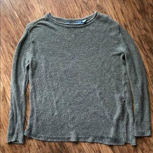 Vera Wang Green Asymmetrical Sweater